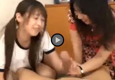 北川瞳 女教師と一緒に手コキとフェラ